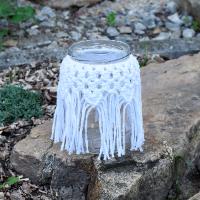 Macramé lucernička v bílé