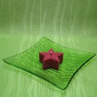 Svíčka z palmového vosku vonná - hvězdička červená