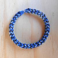 Náramek modrá+bílá+černá z gumiček Loom Bands