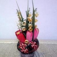 velikonoční květinové vejce