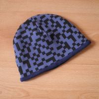 Zimní oboustranná čepice - Pixely