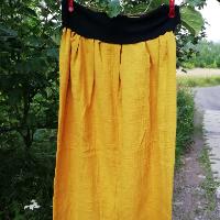 Šitá sukně - hořčicová