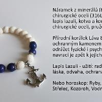 NÁRAMEK Z MINERÁLŮ - Lapis Lazuli