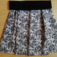 Šitá sukně - růže šedá