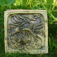 Kachle s reliéfem viktoriánského draka (3ks)-SLEVA