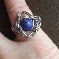 Lapis lazuli prstýnek, 16 mm.