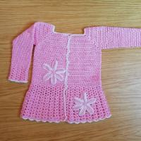 Háčkovaný kabátek bavlna