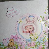 Ručně vyráběné přání k narození dítěte