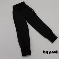 Jar.-podz. rostoucí softshellové kalhoty - Černé