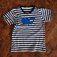 Dětské bavlněné tričko s velrybou
